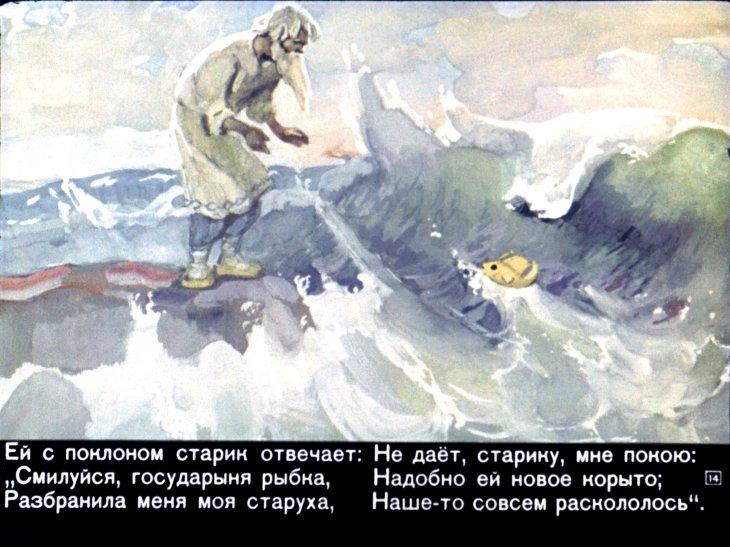 сказка о рыбаке и черты характера рыбки